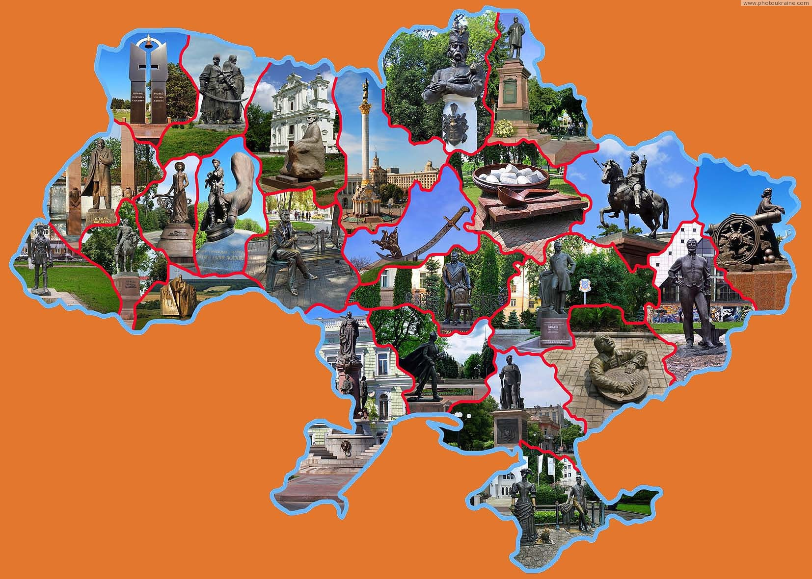 Monuments of the time of independence of Ukraine